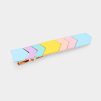 Color Block Resin Snap Alligator Hair Clip