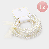 12 Set of 5 - Pearl Bracelet