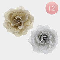 12PCS - Rose Pin Brooch / Hair Accessories