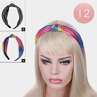 12PCS - Silky Dot Knot Headbands
