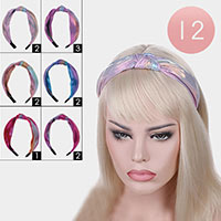 12PCS - Silky Knot Headbands