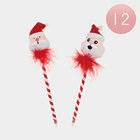 12PCS - Christmas Santa Ball Point Pens