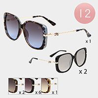 12PCS - Oversized Sunglasses