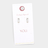 Secret Box _  Sterling Silver Post Stud Pearl Earrings