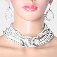 Pearl Accented Embellished Necklace