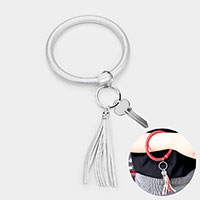 Shine Faux Leather Tassel Key Ring /Bracelet