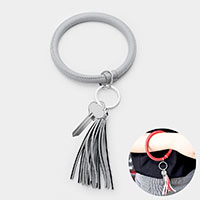 Faux Leather Tassel Key Ring /Bracelet