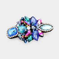 Colorful Glass Crystal Bead Barrette