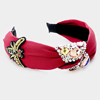 Crystal Embellished Honey Bee Knot Head Band