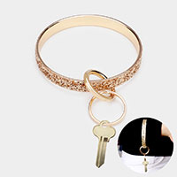 Glitter Metal Key Ring /Bracelet