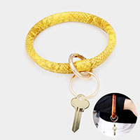 Faux Leather Snake Pattern Key Ring /Bracelet