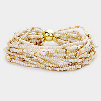 Multi Layered Bead Stretch Bracelet