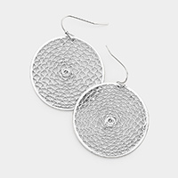 Metal Cut Out Round Earrings
