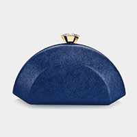 Faux Leather Evening Clutch Bag