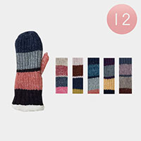 12PCS - Knitted Sherpa Gloves