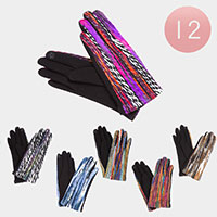 12PCS - Multi Color Braided Smart Gloves