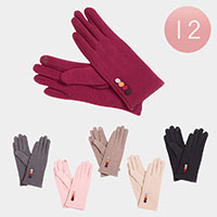 12PCS - Button Deco Smart Gloves