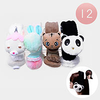12PCS - Faux Furry Fur Cute Animal Earmuffs