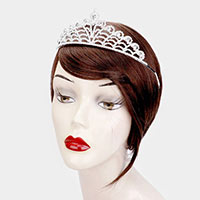 Teardrop Crystal Rhinestone Statement Pageant Tiara