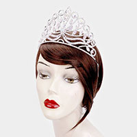 Leaf Crystal Rhinestone Princess Tiara