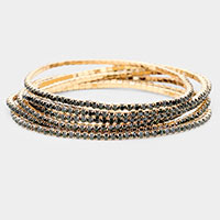 Crystal Rhinestone Stretch Layered Bracelet