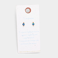 Secret Box _ Sterling Silver Post Turquoise Stud Earrings