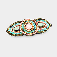 Multi Strand Beaded Glass Crystal Barrette