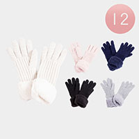 12PAIRS - Knitted Gloves