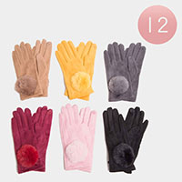 12PCS -Furry Faux Fur Gloves