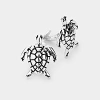 Turtle Metal Clip On Earrings
