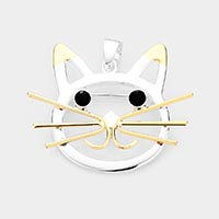 Metal Cat Brooch / Pendant