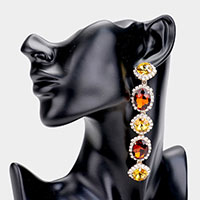 Crystal Rhinestone Drop Evening Earrings