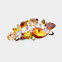 Glass Crystal Vine Barrette