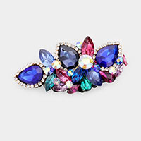Glass Crystal Floral Vine Barrette