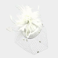Feather Mesh Dual Fascinator / Headband