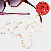 Shell Textured Metal Glasses Chain