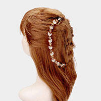 Marquise Crystal Rhinestone Pave Vine Hair Comb