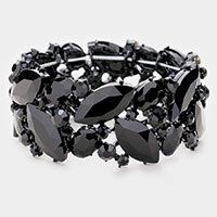 Marquise Crystal Stretch Evening Bracelet