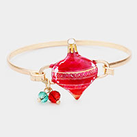 Watercolor Metal Christmas Ornament Hook Bracelet