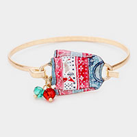 Watercolor Metal Christmas Sweater Hook Bracelet