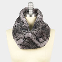 Python Print Fur Twisted Tube Scarf