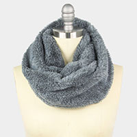 Two Tone Faux Fur Tube Scarf