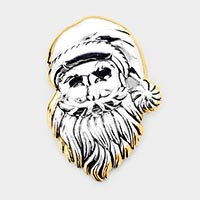 Christmas Santa Face Pin Brooch / Pendant