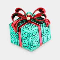 Christmas Gift Box Pin Brooch / Pendant