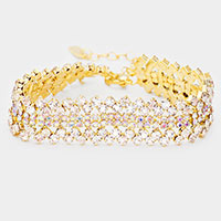 Rhinestone Accent Evening Bracelet