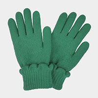 Scallop Cuff Textured Smart Touch Gloves