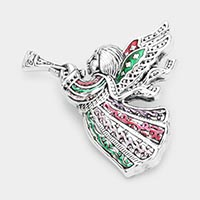Christmas Angel Pin Brooch / Pendant
