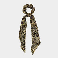 Leopard Print Scarf Pony Hair Band