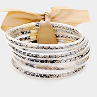 5PCS - Snake Jelly Tube Bangle Bracelet