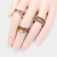18PCS - Multi Thickness Metal Layered Rings